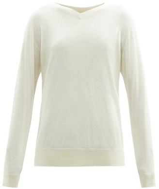 Raey V-neck Cashmere Sweater - Womens - Ivory