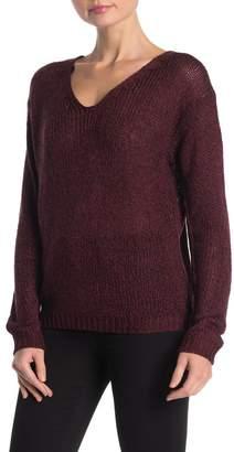 Modern Designer Lace-Up Back V-Neck Sweater