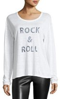 Zadig & Voltaire Willy Rock & Roll Long-Sleeve Linen Top