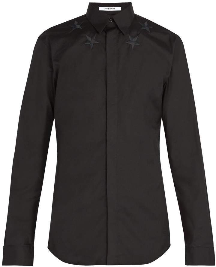 Givenchy Star-embroidered poplin shirt