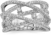 JCPenney FINE JEWELRY 1/2 CT. T.W. Diamond 10K White Gold Criss-Cross Orbital Ring