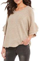 Gibson & Latimer Ruffle Sleeve Sweater