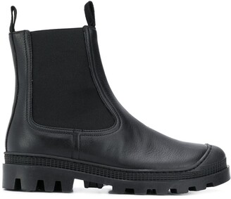 Loewe chunky leather Chelsea boots