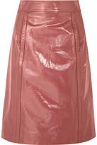 Bottega Veneta Patent-leather Pencil Skirt - Antique rose