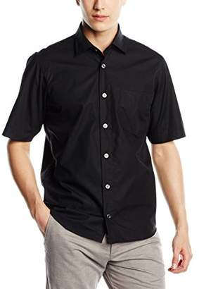 Signum Men's 1/2 Basic Casual Shirt, (Black), Large
