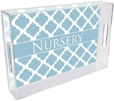 The Well Appointed House Chelsea Grande Blue Personalized Lucite Tray-Available in Two Different Sizes