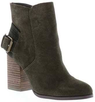 Sbicca Back Buckle Block Heel Booties - Fletcher
