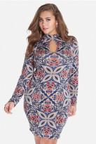 Fashion to Figure Katalina Mock Neck Printed Dress