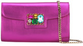 Casadei jewelled chain strap clutch bag - women - Crystal/Kid Leather - One Size