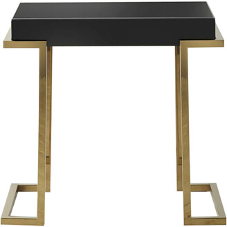 Gda Dalby Black Mirrored Side Table