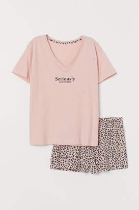 H&M Pajama Shirt and Shorts