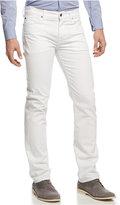 7 For All Mankind Men's Slimmy Slim Straight-Leg Jeans, White