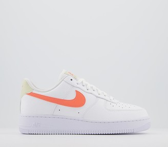 Nike Force 1 07 Trainers White Atomic Pink Fossil White