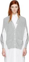 Sacai Grey Knit Cotton Cardigan