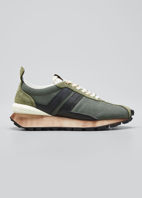 Lanvin Men's JL Runner Colorblock Sneakers
