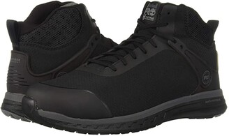 Timberland Drivetrain SD35 Mid Composite Safety Toe SD (Black Ripstop Nylon Upper) Men's Work Boots