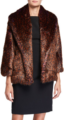 Natori Faux Fur Shorter Jacket