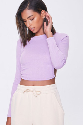 Forever 21 Ribbed Open-Back Crop Top