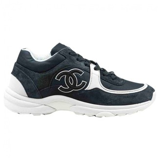 Chanel Anthracite Suede Trainers