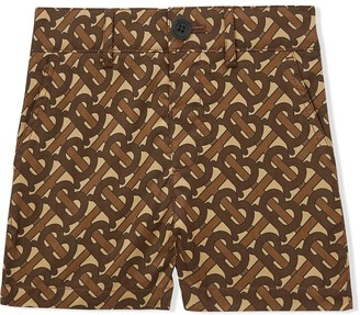 BURBERRY KIDS Monogram Print Tailored Shorts