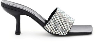 BY FAR dylan crystal mules