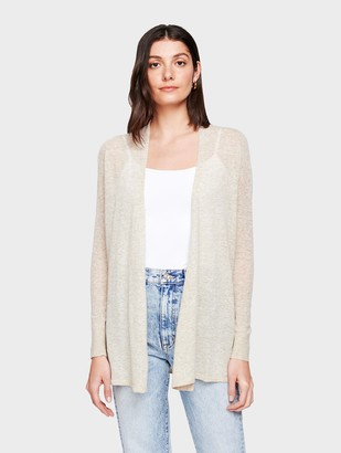 White + Warren Linen Trapeze Cardigan