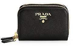 Prada Women's Double Zip-Around Leather Coin Case