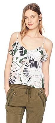 Milly Women's Tropics Print on GGT Emilia Ruffle Cami