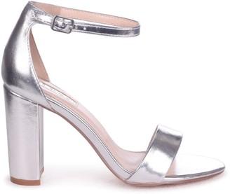 Linzi Nelly Silver Metallic Single Sole Block Heels
