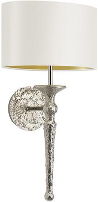 Heathfield & Co Olivia Wall Light - Nickel / Ivory