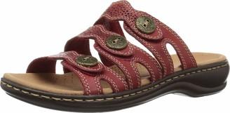 Clarks Women's Leisa Grace Slide Sandals RED 6.5 W