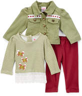 Green Butterfly Long-Sleeve Top Set - Infant & Toddler
