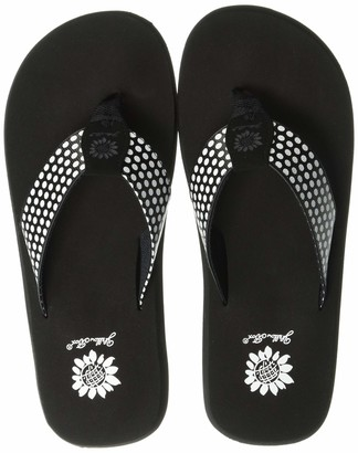 Yellow Box Women's Fromy Flip-Flop Black 8.5 M US