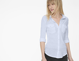 James Perse Sheer Slub Side Panel Shirt