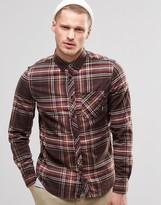 Element Buffalo Plaid Flannel Shirt In Regular Fit In Brown Bear Buttondown