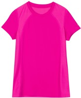 New Balance Girls 7-16 Jersey Mesh Performance Tee