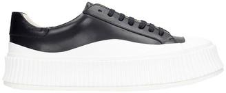 Jil Sander Sneakers In Black Leather
