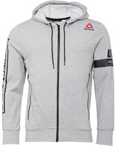 Reebok Mens UFC Ultimate Fan Full Zip Hoody Medium Grey Heather