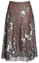 Tracy Reese Sequin Flared Skirt