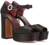 Marc Jacobs Dolls Crystal-embellished Satin Platform Sandals