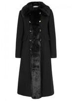 Tory Burch Celeste Faux Fur-trimmed Wool Blend Coat