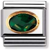 Nomination 18ct Gold & Emerald Green CZ Classic Charm 030601/027