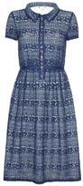 Yumi Blue Lace Dress