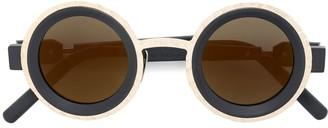 Kuboraum Two Tone Round Sunglasses