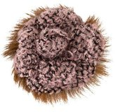 Chanel Camellia Tweed Flower Brooch