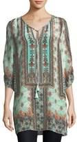 Tolani Kimberly Long Printed Tunic, Plus Size