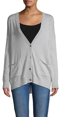 ATM Anthony Thomas Melillo Schoolboy Oversized V-neck Cardigan