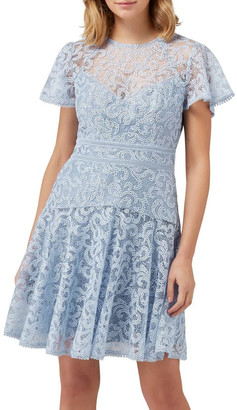 Forever New Lorna Embroidered Lace Skater Dress