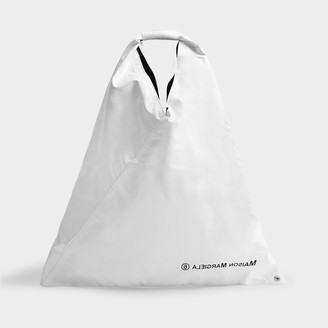 MM6 MAISON MARGIELA Japanese Tote In White Synthetic Leather