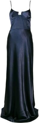 Galvan Metallic Evening Dress